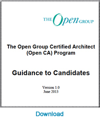 The open group certified architect open ca program the for Certified architect